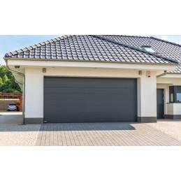 Porte de garage sectionnelle Mono ligne RAL 7016 gris anthracite prémonté