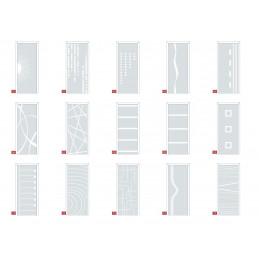 Modèle vitrage pour porte d'entrée vitrée