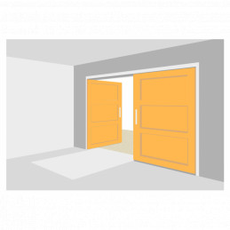 Porte de garage battante - 4 ouvrants