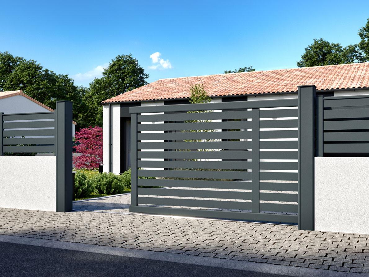 Portail aluminium Bos